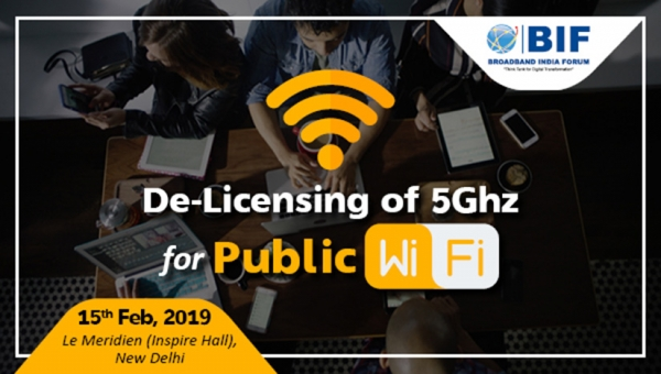 De-Licensing of 5Ghz for Public WiFi - 15th February, 2019